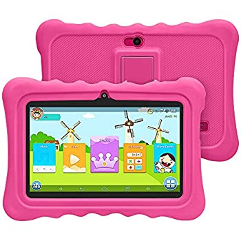 YUNTAB Tablet para Niños 7 Pulgadas Android,CPU Quad-Core 1.5GHz,1 GB RAM + 8 GB ROM,iWawa Educativos Software,Google Play y Control ...