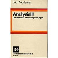 Analysis 3. Gewöhnliche Differentialgleichungen