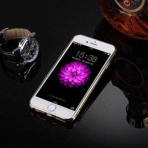 Phone case & Hülle Für iPhone 6 / 6s, Diamond verkrustete Galvanik Spiegel Schutzhülle Fall mit versteckten Ring Halter ( Color : Rose gold ) Gold