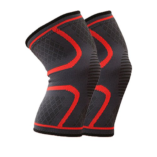FITTOO-Knee-Sports-Support-Sleeves-Pair-Compression-Braces-for-Men-and-Women-Anti-Slip-Joint-Pain-Relief-Arthritis-Injury-Recovery-Support-for-Running-Jogging-Cycling-Hiking-Workouts