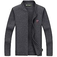 HHFHZ Moda para Hombre de Punto Cardigan de Manga Larga con Cremallera de pie Cuello suéter Outwear cálido Abrigo Cardigans Informal Jugando (Color : 04, Tamaño : L/175)
