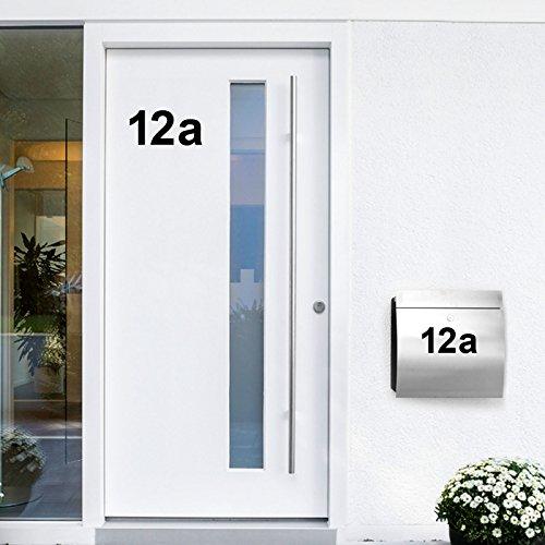 Wandora W1473 Wandtattoo Hausnummer selbstklebend I schwarz Höhe 8 cm Zeichen 0 I Zahlen Buchstaben Ziffern Tür Beschriftung (Wandtattoos Nummer Buchstaben Und)
