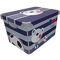 Maqio 22 Litre Large Plastic Storage Boxes Stockholm Deco IML Print Box 22L ...