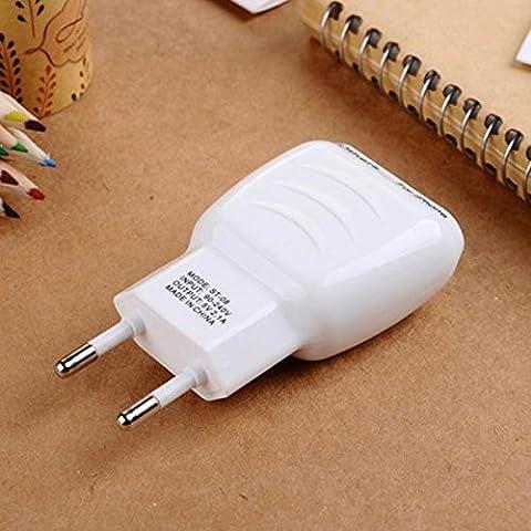 08 ST-2.1A cargador de pared Adaptador Dual USB de la UE para el iPhone Teléfono móvil.
