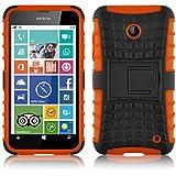 Lumia 630 Hülle, JAMMYLIZARD [ ALLIGATOR ] Doppelschutz Outdoor-Hülle für Nokia Lumia 630, ORANGE