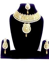 Gudiya Art Gold Plated Necklace Set For Women(GUDIYA Art 9)