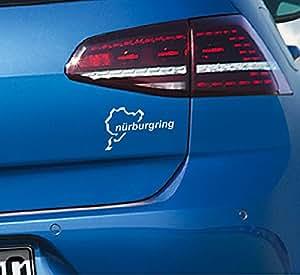 Autocollant représentant le circuit nürburgring edition réf. autocollant voiture feu de recul pour audi bMW 15 x 9 cm