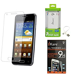iKare Pack of 2 Premium Shatter Proof Tempered Glass Ultra Clear Screen Protector for Micromax Canvas Fire 4 A107 + 6600 mAh Power Bank