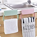 #3: ANYM self-Adhesive Plastic Towel Rack Cabinet Cupboard Door Cloth Holder Bathroom Storage Rack Kitchen Accessories - Random Color
