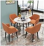 Cafe Tavoli e Sedie Combinazione Sala Riunioni Marmo Tavolino e Sedie Rotondi Cinema Ufficio Biblioteca Dipartimento Vendite Sala Ricevimento Negozio Di Dolci Salone Di Bellezza (Una Varietà Di Colori