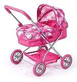 """Bayer Design- Passeggino Smarty"""", Carrozzina per Bambole, Colore Rosa con Motivo, 12241AA"""