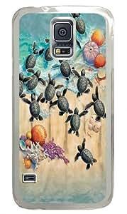 Green Turtle Hatchlings Custom Samsung Galaxy S5/Samsung S5 Case Cover Polycarbonate Transparent wangjiang maoyi