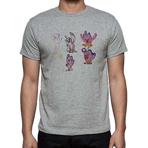 Digimon Biyomon Birdramon Garudamon Sketch Herren T-Shirt Grau