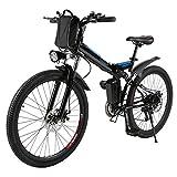 AMDirect Bicicleta de Montaña Eléctrica Bici Plegable...