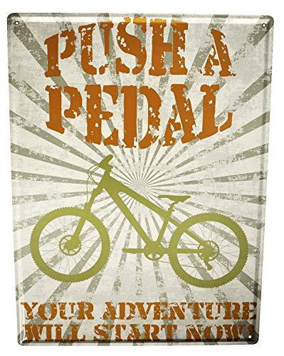 Blechschild Nostalgie Fahrrad Mountainbike
