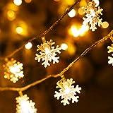 Schneeflocke Schnur Lichter