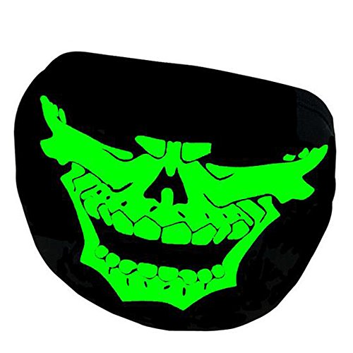 eizur-luminoso-maschera-bocca-unisex-cotone-cranio-scheletro-anti-polvere-riflettente-creativo-viso-