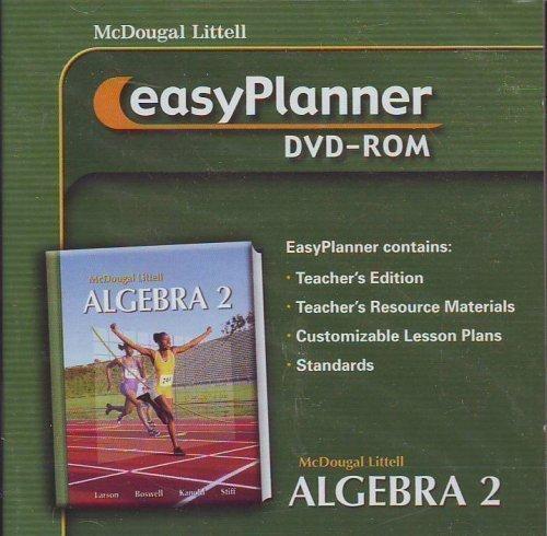 Algebra 2 Easyplanner Dvd-rom