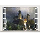 JUNMAONO 3D Harry Potter Castle Wandaufkleber/Wandgemälde/Wand Poster/Wandbild Aufkleber/Wandbilder/Wandtattoo/Pinupbild/Beschriftung/Pad einfügen/Tapete/Tapezieren/Tapeten/Wand Zeitung/Wandmalerei/Haftnotiz/Fühlen Sie sich frei zu kleben/Instant Aufkleber/3D-Stereo-Wandaufkleber
