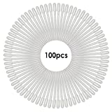 JJPRIME – 100 x Clear pasteur pipettes droppers plastic droppings graduated 3 ml – transfer...
