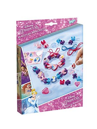Disney Princess Bastel-Set: Armbänder zum Selber Verzieren mit Anhängern, Perlen und Stickern von Dornröschen, Cinderella und Arielle, Geschenk für Mädchen (Prinzessin Disney Für Mädchen)