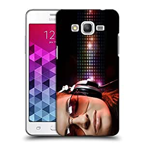 Snoogg Girl Listening Music Designer Protective Back Case Cover For Samsung Grand Prime G5306W