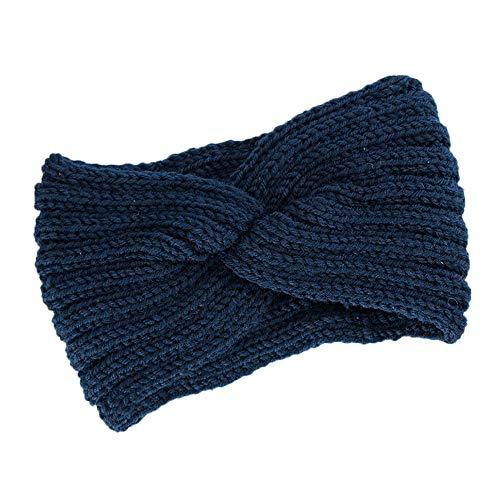 OSYARD Damen Mädchen Stirnband Kopfband Headband, Frauen Strick Stirnband Ohrwärmer Winter Kopfband Haarband,Twisted Knotted Crochet Stirnbänder Warm Wolle Turban Kopftuch Bandanas Ear Warmer