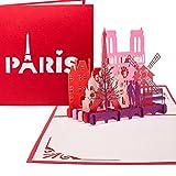 Pop Up Karte  Paris - Je t aime  - 3D Klappkarte Paris & Eiffelturm, Reisegutschein & Geschenkgutschein, 3D Karte St�dtetrip & Hochzeitsreise Paris medium image