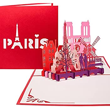 Paris Skyline - Klappkarte / 3D Pop-Up Karte - Reise