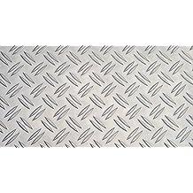 2,0mm Alu Duett 1,00m Riffelblech Duettblech Tränenblech Aluminium 1,5