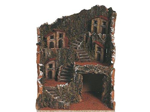 Krippe Antik (VISCIO Trading 87275. Neapolitanische Krippe antik, Holz, mehrfarbig, 30x 30x 36cm)