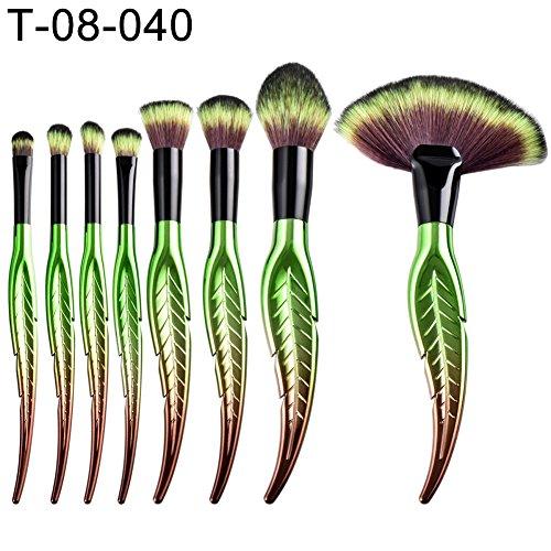 sunyuey 4/8/10St. Leave Form Lidschatten Puder Kosmetik Sockel Beauty Make-up-Pinsel-Set (Bush Sockel)