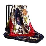 LONGYOUZHI Sciarpe di seta Donna Foulard 90 * 90 cm Testa quadrata Sciarpa hijab Signore Scialle in chiffon avvolgere silenziatore pareo Bandanna donna spedizione gratuita 90X90cm 20