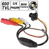 Bw objectif 6mm Mini 600TVL 1/10,2cm Capteur d'image Ph3299Conversion numérique de surveillance CCTV CMOS Caméra avec 1280x 960Résolution et 5mégapixels sténopé CCTV Caméra vidéo surveillance d'intérieur pour TV Standard...