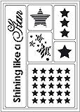 VIVA DECOR Schablone Shining like a Star 6 Motive selbstklebend lasergeschnitten