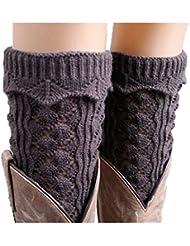 Chaussette Longue Sans Pieds Hiver Printemps En Tricot Crochet Florale Guêtre Cuissard Couverture De La Botte Femme Fille Mignon