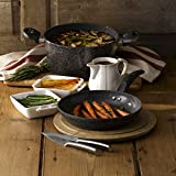 Tower T81272 Casserole Dish with Lid, Cerastone, Forged Aluminium with Easy Clean Non-Stick Ceramic Coating, Graphite, 24 cm