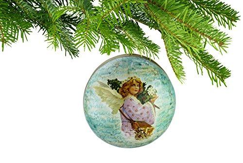Weihnachtskugel zum Öffnen und Befüllen - Schönes Geschenk für Musiker (Weihnachtsengel Frohe Weihnachten) (Musikalischer Christbaumschmuck)