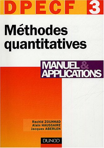 DPECF numéro 3 : Méthodes quantitatives : Manuel et applications