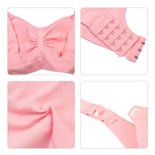3pcs soutien-gorge Maternité Allaitement Nursing Bra sans armature Enceintes Bras Femme confortable et pratique?inclus rallonges de Soutien-gorge+sac de linge ? rose+bleu+violet
