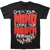 Inmóvil en color blanco para hombre abierto tu mente T-Shirt negro -  negro -