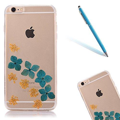 """iPhone 6sPlus Schutzhülle, iPhone 6Plus Soft TPU Handytasche, CLTPY Modisch Durchsichtige Rückschale im Getrocknete Blumenart, [Stoßdämpfung] & [Kratzfeste] Full Body Case für 5.5"""" Apple iPhone 6Plus/ Floral 13"""