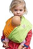 Puppentuch * für Puppenmütter und Teddy-Daddys * zum Tragen von Puppen und Plüschtieren (3, Maigrün)