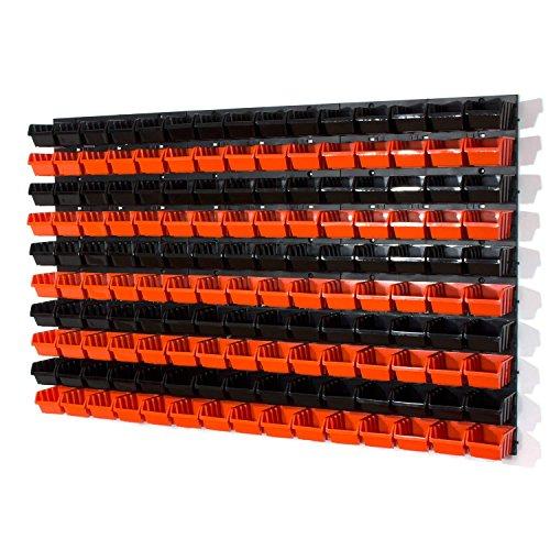 Lot de 150 XS en noir et orange boites avec supports, porte-outils