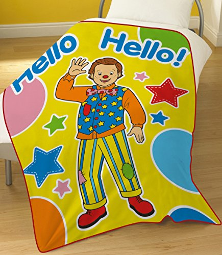 Image of Something Special Mr Tumble Fleece Blanket, 100 Percent Polyester, Multi-Colour, 120 x 150 cm
