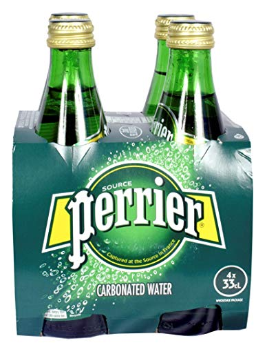 Perrier Carbonated Water (Sparkling Water) 330ml (Pack of 4)
