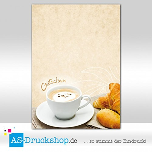 Gutschein Bäckerei Frühstück / 50 Stück/DIN A6