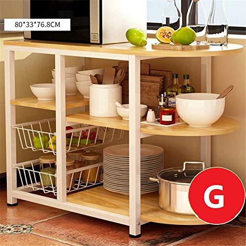WMLD Küche Regal,mikrowelle Bodenständer,küche Kostenlos Stanzen Elektrischer Schal,Reg