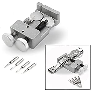 OFKPO Uhrenarmband Strap Kettenbolzen Remover Reparatursatz Werkzeug,Uhrenwerkzeug mit Extra Pins