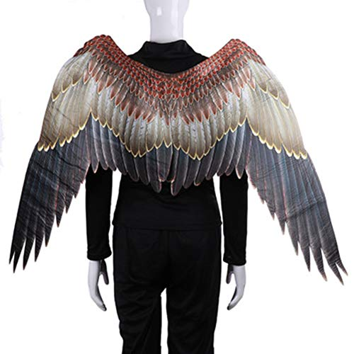 Großer Vogel Kostüm - OOCO Halloween Zubehör Engel Federflügel Erwachsene